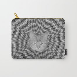 Dizzy Cat Abstract in Monochrome Carry-All Pouch