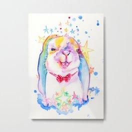 Rainbow Bunny Metal Print