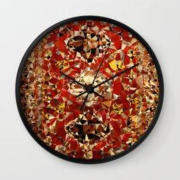 Shirvan Carpet Low Poly Geometric Triangle Art Wall Clock