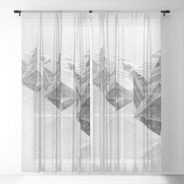News Cubes 3 Sheer Curtain