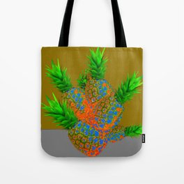 ABSTRACT TROPICAL PINEAPPLES  ART DESIGN Tote Bag