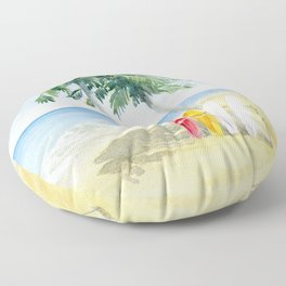Tropical View Floor Pillow