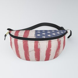 Painting American flag Fanny Pack