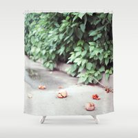 fruits Shower Curtains featuring Fruits by deerproblem