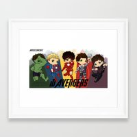 1d Framed Art Prints featuring 1D Avengers by RockitRocket