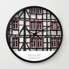 City of Monschau, German architecture Wall Clock