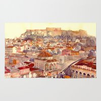 takmaj Area & Throw Rugs featuring Athens by takmaj