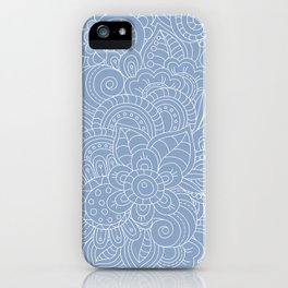 Background abstract flowers, doodleart, graphic-desing vector pattern. iPhone Case