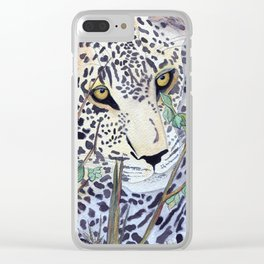 Never Resting - Leopard by Maureen Donovan Clear iPhone Case
