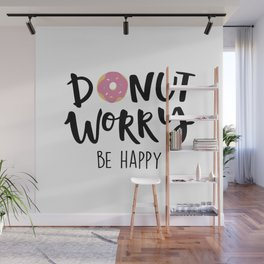 Donut Dorry Be Happy Wall Mural