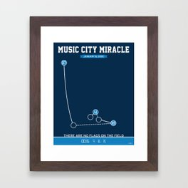 Music City Miracle Framed Art Print