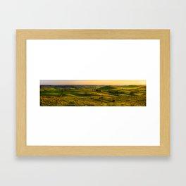 Green hills of Ireland (RR229) Framed Art Print