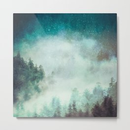 Galaxy Forest Metal Print