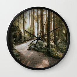 Lost in the Forest - Landscape Photography Wall Clock