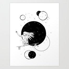 Longboarder Art Print