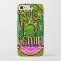 astrology iPhone & iPod Cases featuring Gemini Zodiac Sign Astrology by CAP Artwork & Design