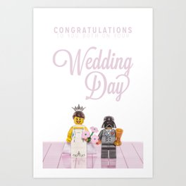 Lego - Congratulations On Your Wedding Art Print