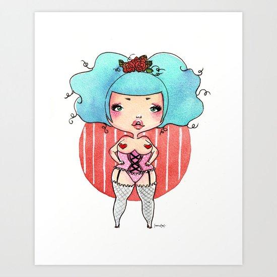 Chubby Heart Art Print