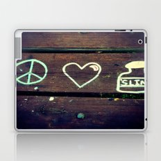 Peace Love and Insulin  Laptop & iPad Skin