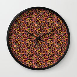 Concentric Circles darks Wall Clock
