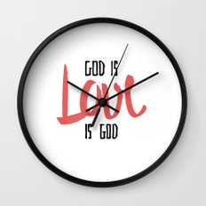 God is LOVE is God Wall Clock