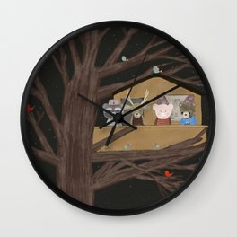the little treehouse Wall Clock