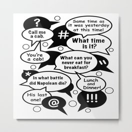 Funny Answers Metal Print