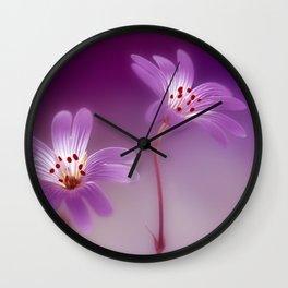 Purple Stitches Wall Clock