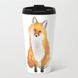 Watercolor Red Fox Travel Mug