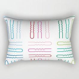 Hair Stylist Pattern Rectangular Pillow