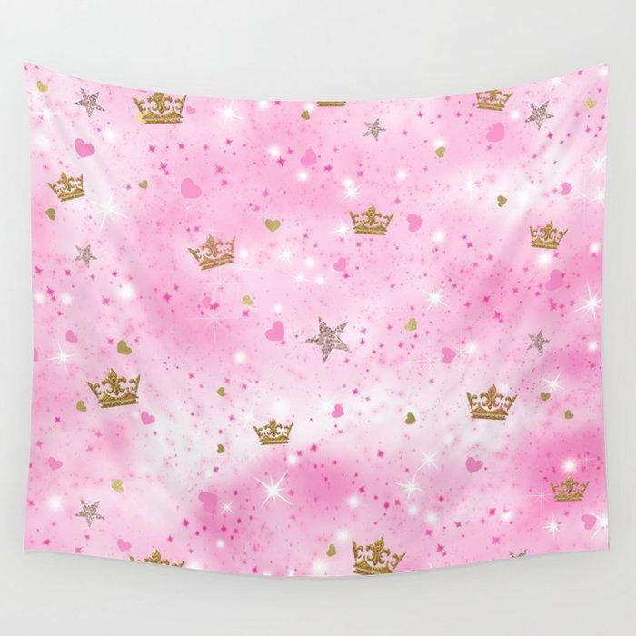 Pink Princess Wall Tapestry