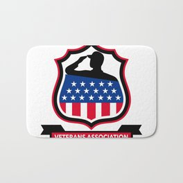 American Veteran Shield Icon Bath Mat