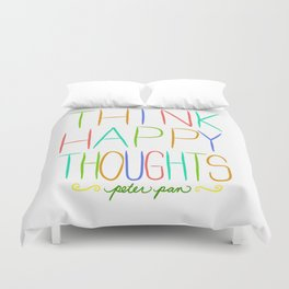Peter Pan Think Happy Thoughts Duvet Cover
