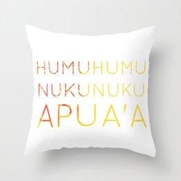 Humuhumunukunukuapua'a: Oahu State Fish Throw Pillow