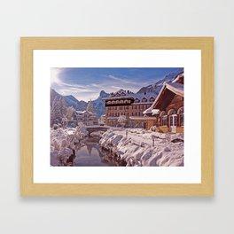 Wintertime in Kandersteg Switzerland Framed Art Print