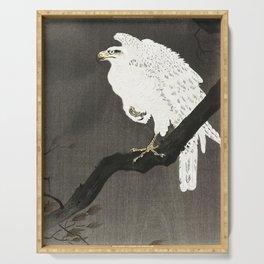 Koson Ohara - White Eagle on a Branch - Japanese Vintage Ukiyo-e Woodblock Painting Serving Tray