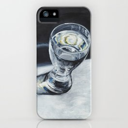 Glass of the water in the light iPhone Case