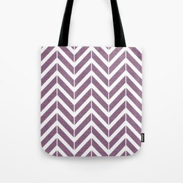 Purple Broken Chevron Tote Bag