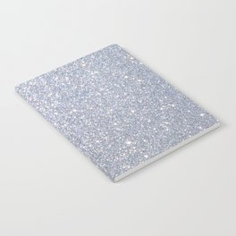 Silver Metallic Sparkly Glitter Notebook
