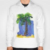 palm tree Hoodies featuring Palm Tree  by Thom Lupari