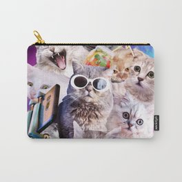 Kitten Cat Selfie In Space With Unicorn Cat Carry-All Pouch