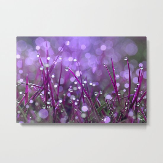 Fairy Drops Pink Metal Print