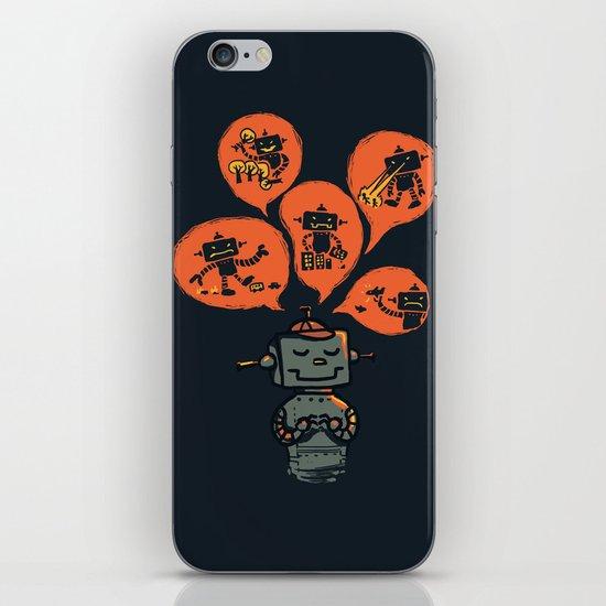 When I grow up - an evil robot dream iPhone & iPod Skin