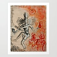 shiva Art Prints featuring Shiva by Maithili Jha