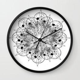skull psychedelics Wall Clock
