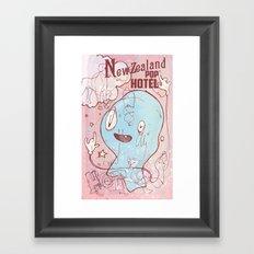 NewZealand Pop Hotel Framed Art Print