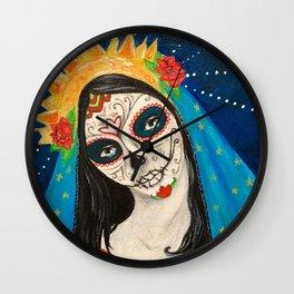 Mary Muerta Wall Clock