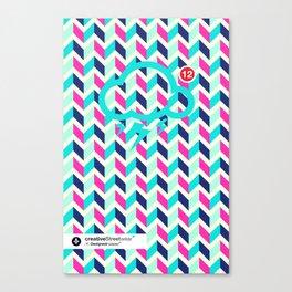SocialCloud Pattern Canvas Print