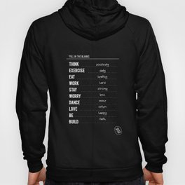 Lab No. 4 - Fill in the blanks.. Exercise timetable schedule Inspirational Quotes Poster Hoody