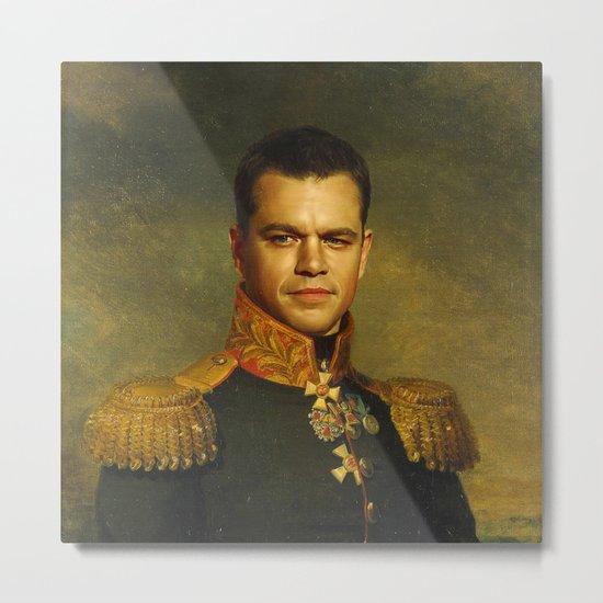 Matt Damon - replaceface Metal Print